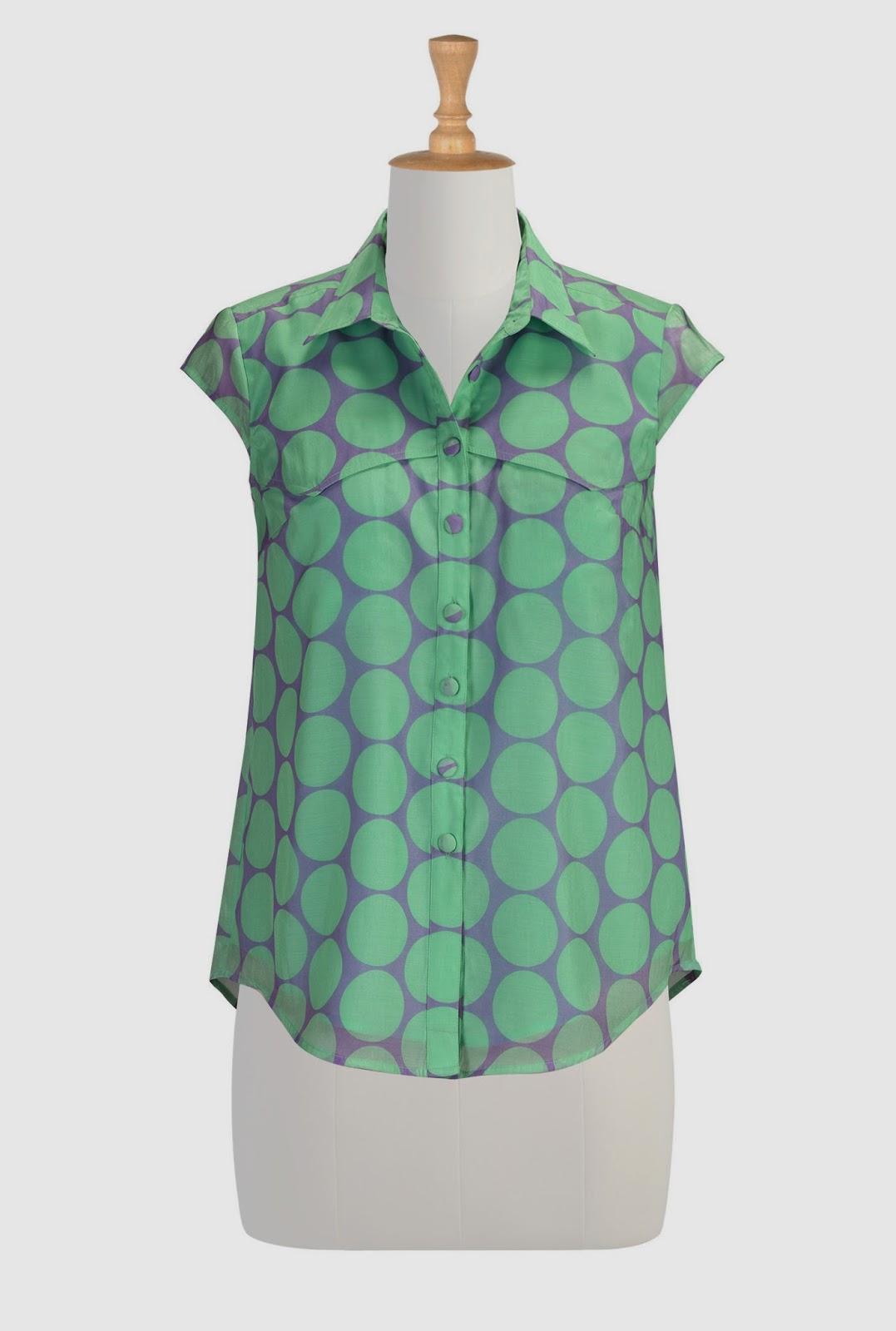 http://www.eshakti.com/Product/CL0030560/Polka-dot-organza-western-shirt