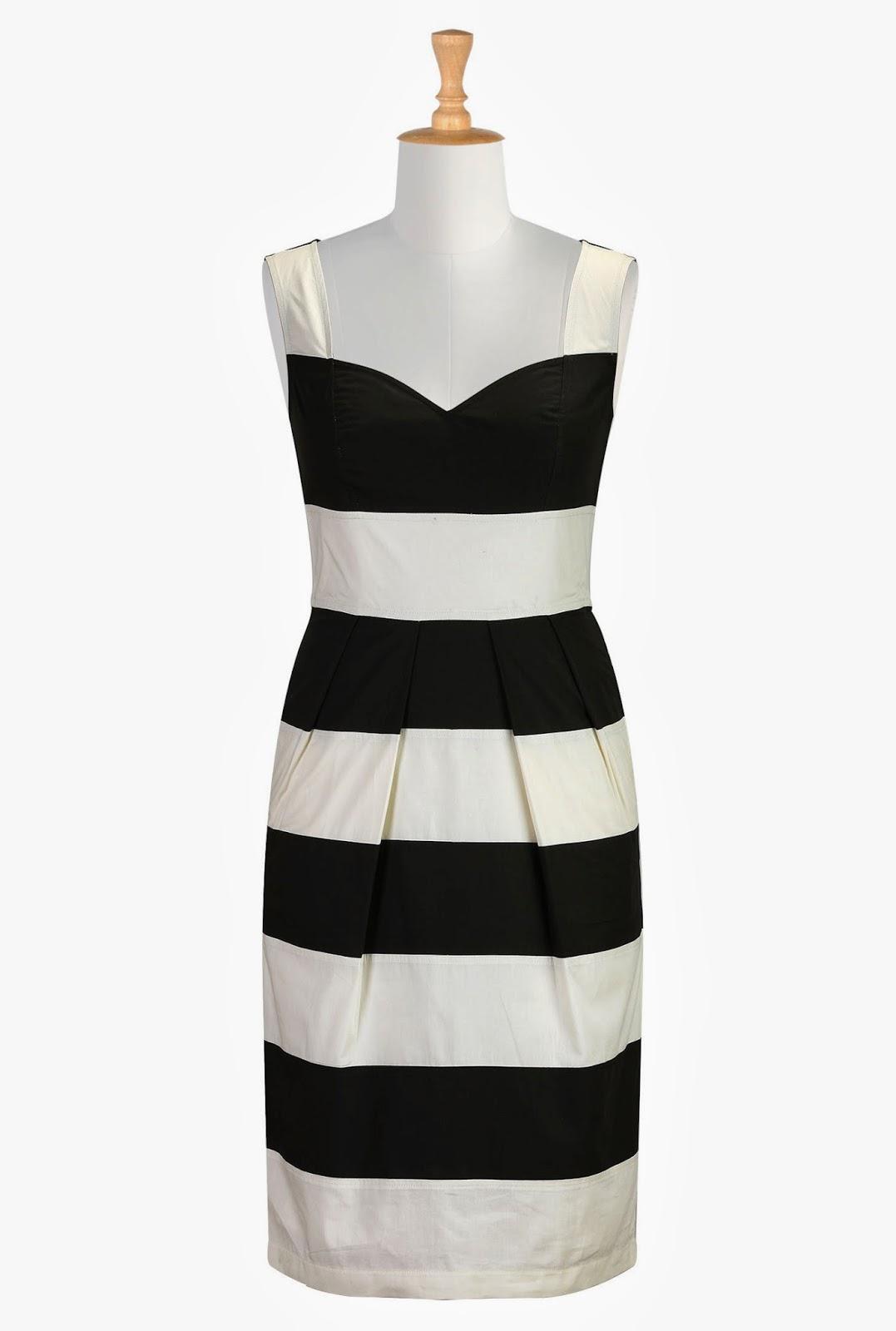 http://www.eshakti.com/Product/CL0030909/Contrast-banded-stripe-poplin-dress